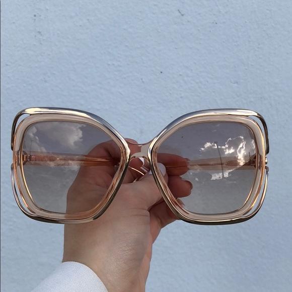 c9d6496a465 Chloé Sunglasses- BRAND NEW  Peach Gold